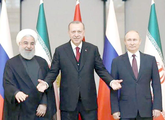 انقرہ: تُرک صدر اردوان اپنے روسی اور ایرانی ہم منصبوں پیوٹن اور روحانی کا استقبال کررہے ہیں