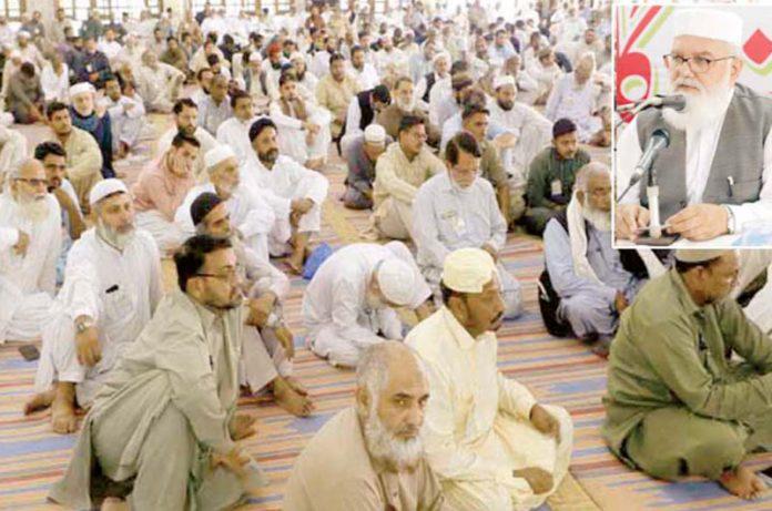 لاہور: نائب امیر جماعت اسلامی پاکستان لیاقات بلوچ منصورہ میں مرکزی تربیت گاہ کے شرکا سے خطاب کررہے ہیں