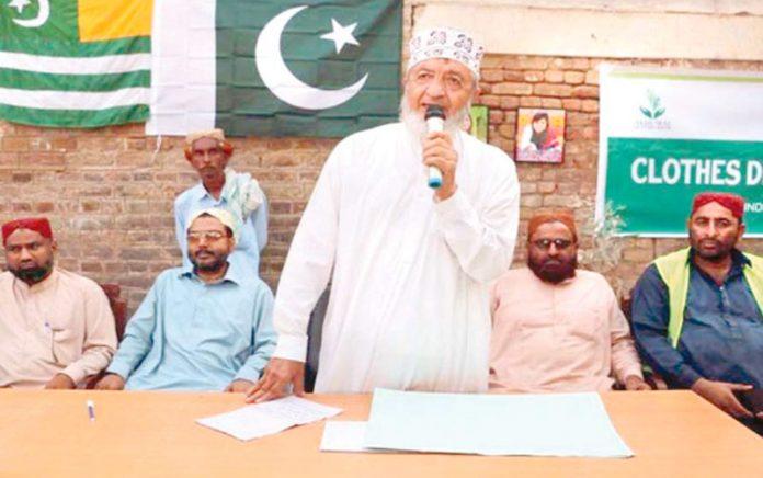 جیکب آباد: امیر جماعت اسلامی سندھ محمد حسین محنتی منارٹی ونگ کے تحت تقریب سے خطاب کررہے ہیں