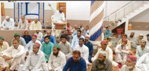 جیکب آباد: حافظ نصراللہ عزیز جہاد کشمیر مارچ کی تیاریوں کے حوالے سے اجتماع کارکنان سے خطاب کر رہے ہیں