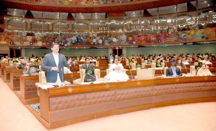 کراچی:وزیراعلیٰ سندھ سید مراد علی شاہ اسمبلی اجلاس سے خطاب کررہے ہیں