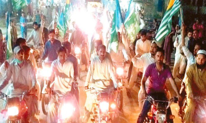 جیکب آباد: جماعت اسلامی کے تحت کشمیریوںسے یکجہتی کے لیے ریلی نکالی جارہی ہے