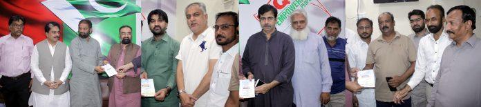 حیدرآباد:جماعت اسلامی کے ضلعی امیر حافظ طاہر مجید ایم کیو ایم پاکستان کے زونل آفس میں ظفر صدیقی ، ڈپٹی میئر و دیگر کوکشمیر مارچ میں شرکت کی دعوت دے رہے ہیں