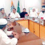 کراچی ہول سیل گروسرز ایسوسی ایشن کے تحت جوڑیا بازار میں کشمیریوں سے اظہار یکجہتی کے لیے اجلاس منعقد ہوا