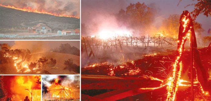 سکرامنٹو: امریکی ریاست کیلی فورنیا کے جنگلات میں لگی آگ وسیع رقبے پر پھیل چکی ہے