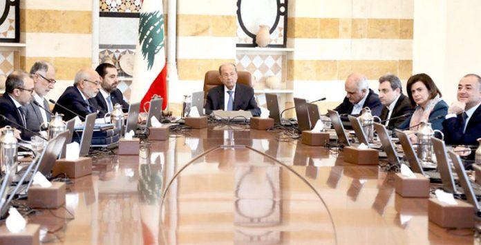 لبنان: صدر میشل عون کی زیر صدارت کابینہ کا اجلاس ہورہا ہے' وزیراعظم سعد الحریری بھی موجود ہیں