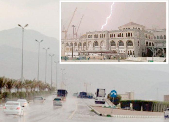 سعودی عرب میں محکمہ موسمیات نے شدید بارش کا انتباہ جاری کردیا
