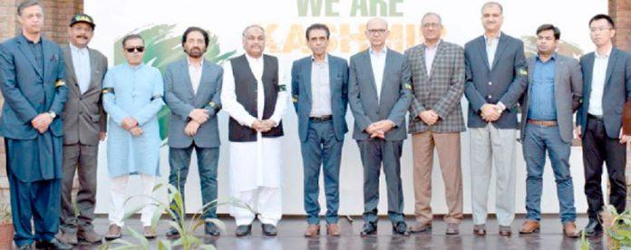 پی ٹی سی ایل کی کشمیر کے ساتھ اظہار یکجہتی کے حوالے سے فن پاروں کی نمائش میں وفاقی وزیر آئی ٹی اور دیگر کا گروپ فوٹو