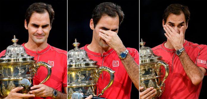بیسل: سوئٹزر لینڈ کے عالمی شہرت یافتہ ٹینس اسٹار راجر فیڈرر کے 10 ویں مرتبہ سوئس انڈورز اوپن ٹینس ٹورنامنٹ جیتنے کے بعد مختلف انداز