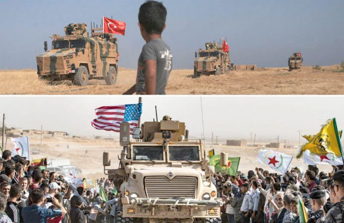 شام: امریکی فوج کے انخلا پر کرد علاحدگی پسند مظاہرہ کررہے ہیں' ترکی کی بکتربند گاڑیاں ہمسایہ ملک میں داخل ہورہی ہیں