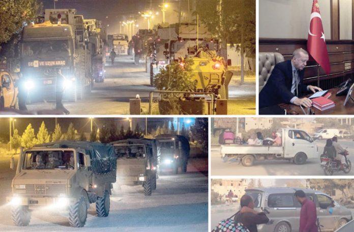 انقرہ: ترک صدر شامی سرحد پر فوجی آپریشن کا اعلان کررہے ہیں' فوج علاقے میں کارروائی کے لیے روانہ ہو رہی ہے' شمال مشرقی شام کے باشندے نقل مکانی کررہے ہیں