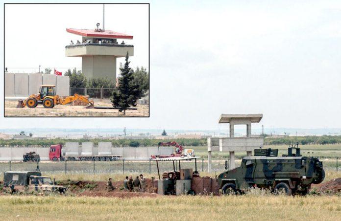 ترکی: جنگ زدہ ہمسایہ ملک شام سے متصل سرحد پر کنکریٹ کی دیوار اور فوجی چوکیاں قائم کی جارہی ہیں