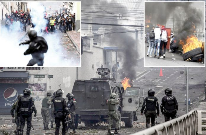 حکومت کے خلاف احتجاج میں شریک افراد کو منتشر کرنے کے لیے سیکورٹی اہل کار مظاہرین پر براہ راست فائرنگ کررہے ہیں