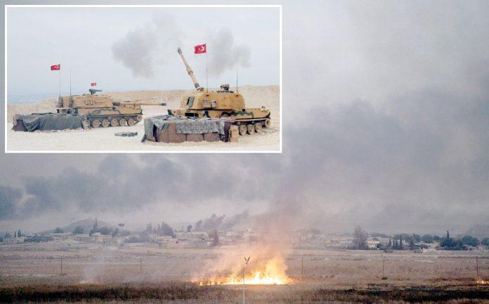 شام: ترکی کے ٹینک کرد جنگجوؤں پر گولہ باری کررہے ہیں' نشانہ بننے والے مقام سے دھواں اور شعلے بلند ہورہے ہیں