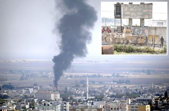 شام: ترکی اور امریکا کے درمیان عارضی جنگ بندی پر اتفاق کے دوسرے روز راس العین شہر میں شعلے ودھواں بلند ہورہا ہے' مزاحمت کار سرحد پر تیار بیٹھے ہیں