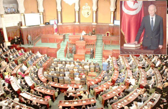 تیونس: نومنتخب صدر پروفیسر قیس سعید حلف اٹھا رہے اور پارلیمان سے خطاب کررہے ہیں