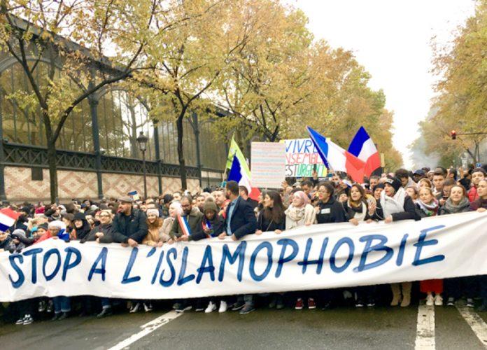 فرانس: مقامی مسلمان اسلاموفوبیا کے خلاف ریلی نکال رہے ہیں